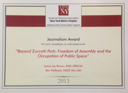Beyond Zuccotti Park Journalism Award